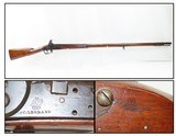 Rare PILLOCK CONVERSION Antique U.S. R&C LEONARD Contract Model 1808 MUSKET WAR OF 1812 Dated; 1 of only 5,000 Made