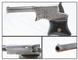 Engraved REMINGTON Antique SAW HANDLE Vest Pocket .22 Cal. Rimfire DERINGER SCARCE 1 of 17,000 Made During Production Run!
