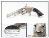 1860s ENGRAVED, PLATED SMITH & WESSON No. 1 7-Shot .22 S&W REVOLVER Antique S&W's Flagship Revolver Design!