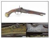 c1710 VIENNA, AUSTRIAN Antique JOHAN WAS in Wien Belt Pistol .50 CaliberStately, Engraved Sidearm from the 18th Century