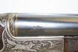 GOLD INLAID German E. MUNCH & CIE Double Barrel SxS HAMMERLESS Shotgun C&RBEAUTIFULLY ENGRAVED 16 Gauge Germanic Fowling Piece! - 16 of 23