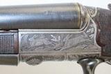 GOLD INLAID German E. MUNCH & CIE Double Barrel SxS HAMMERLESS Shotgun C&RBEAUTIFULLY ENGRAVED 16 Gauge Germanic Fowling Piece! - 6 of 23
