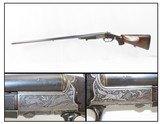 GOLD INLAID German E. MUNCH & CIE Double Barrel SxS HAMMERLESS Shotgun C&RBEAUTIFULLY ENGRAVED 16 Gauge Germanic Fowling Piece! - 1 of 23