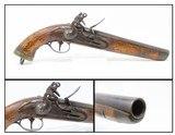 DUTCH Antique .70 Caliber MILITARY FLINTLOCK Pistol European Cavalry NavalLARGE BORE Military Pistol Made Circa Early-1800s