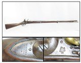 Antique 1839 Dated U.S. HARPERS FERRY Model 1816 Type III FLINTLOCK Musket Long-Lived United States Infantry Musket - 1 of 20
