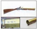 1700s British Antique BRASS BARRELED London Proofed FLINTLOCK BLUNDERBUSSWith Early American Symbolism!