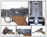 """WEIMAR POLICE """"1921"""" Dated LUGER Pistol ReworkWith """"1939"""" Dated Holster by """"FISCHER"""""""