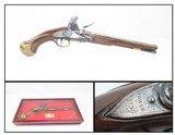 ENGLISH Long SEA SERVICE Original FLINTLOCK Military Pistol 1739 Dated TOWER MARKED .577 Caliber Naval Pistol