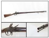 Antique CHARLEVILLE U.S. Model 1795 Type FLINTLOCK WAR of 1812 Era MUSKETLate 1700s/Early 1800s Military Style Flintlock Musket - 1 of 16