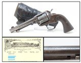 BEAUMONT, TEXAS SHIPPED COLT Bisley SINGLE ACTION ARMY .38-40 Revolver C&RMade in 1902 with Tooled HEISER of DENVER Leather Holster