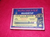 Winchester Vintage 375 H&H Magnum Bear Box Ammo Nice - 1 of 4