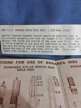 BONANZA 7MM TCU BENCH REST DIE SET, COMPLETE - 4 of 12