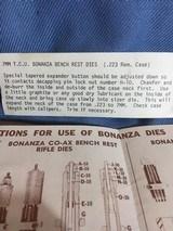 BONANZA 7MM TCU BENCH REST DIE SET, COMPLETE - 3 of 12