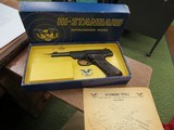 Hi Standard Dura-Matic M101 22lr Pistol w-original box and manual
