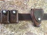 Basket Weave Belt Holster,Magazine Pouch and Handcuff Pouch - 5 of 6
