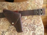 Basket Weave Belt Holster,Magazine Pouch and Handcuff Pouch - 6 of 6