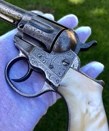 NEWLY FOUND COLT 1877 THUNDERER W/ FACTORY ENGRAVED PANEL SCENE