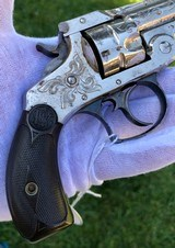 Cased & Engraved Smith & Wesson Double Action Revolver - 14 of 15