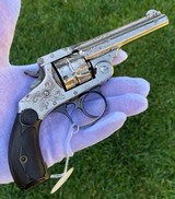 Cased & Engraved Smith & Wesson Double Action Revolver - 4 of 15