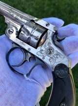 Cased & Engraved Smith & Wesson Double Action Revolver - 2 of 15