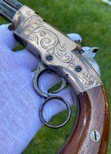 Exceptional Factory Engraved Silver Plated Volcanic Pistol - 3 of 15