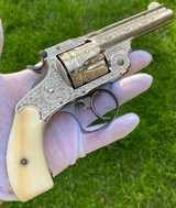 New York Engraved Smith & Wesson .38 Double Action 2nd Model Revolver - 6 of 17