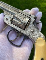 New York Engraved Smith & Wesson .38 Double Action 2nd Model Revolver - 2 of 17