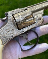 New York Engraved Smith & Wesson .38 Double Action 2nd Model Revolver - 8 of 17