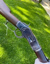 Antique High Condition 1st Model Winchester 1873 Rifle w/ Unique Magazine Cut Off Switch