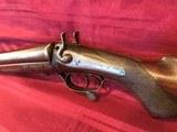 J. Braddell & Son, Belfast 8 Gauge Double Barrel Hammer Shotgun - 7 of 15