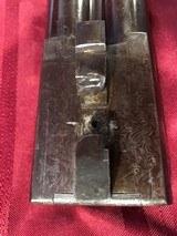 J. Braddell & Son, Belfast 8 Gauge Double Barrel Hammer Shotgun - 13 of 15