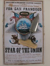 Rare antique, M. Price San Francisco gamblers push dagger