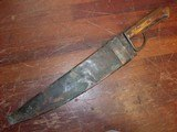 Large Bowie Knife with Blacksmith made Copper Sheath