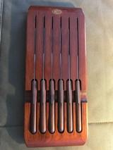 Case XX 6 steak knives wood holder & box - 4 of 6