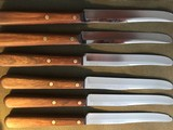 Case XX 6 steak knives wood holder & box