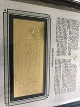 The First Gold Bank Notes Of Belize 22 Kt Gold - 2 of 20