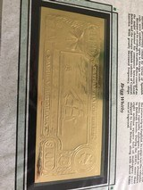 The First Gold Bank Notes Of Belize 22 Kt Gold - 7 of 20