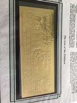 The First Gold Bank Notes Of Belize 22 Kt Gold