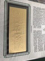 The First Gold Bank Notes Of Belize 22 Kt Gold - 20 of 20