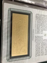 The First Gold Bank Notes Of Belize 22 Kt Gold - 18 of 20