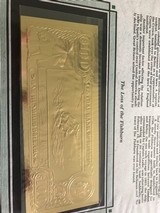 The First Gold Bank Notes Of Belize 22 Kt Gold - 6 of 20