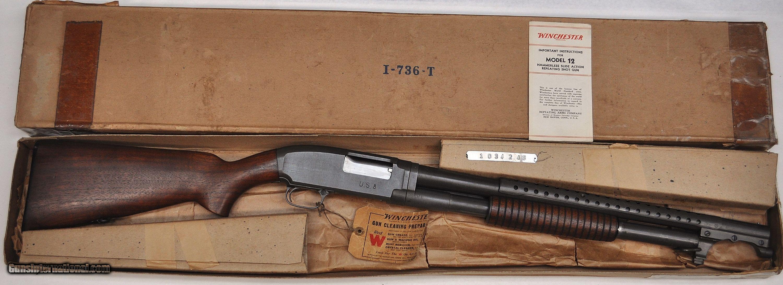 Rare Ww2 U S Military Winchester Model 12 Trench Gun 12ga