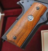 SUPER RARE COLT GENERAL OFFICER'S PISTOL PROTOTYPE 9MM (1 OF 16) W/COLT FACTORY LETTER, WALNUT BOX AND THREE MAGS!!! - 8 of 24