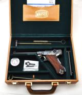 EXTREMELY RARE MAUSER NAVY GERMAN LUGER 9MM (ONLY 10 EVER IMPORTED) W/MAUSER CASE, TWO MAGS, TEST TARGET, MANUAL AND OTHER ACCESSORIES!!