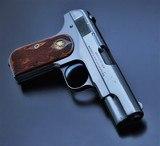 SUPER RARE! COLT 1903 .32ACP POCKET HAMMERLESS! FLEUR DE LIS GRIPS! MIRROR HI-POLISH BLUED!! - 9 of 24