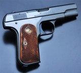 SUPER RARE! COLT 1903 .32ACP POCKET HAMMERLESS! FLEUR DE LIS GRIPS! MIRROR HI-POLISH BLUED!! - 2 of 24