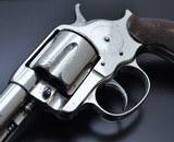 FANTASTIC ANTIQUE NICKEL COLT M1878 FRONTIER .45 COLT MFG 1881 W/SPECIAL ORDER GRIPS!!! - 4 of 22