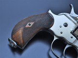 FANTASTIC ANTIQUE NICKEL COLT M1878 FRONTIER .45 COLT MFG 1881 W/SPECIAL ORDER GRIPS!!! - 9 of 22