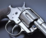 FANTASTIC ANTIQUE NICKEL COLT M1878 FRONTIER .45 COLT MFG 1881 W/SPECIAL ORDER GRIPS!!! - 8 of 22