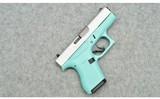 Glock ~ 42 Robins Egg Blue ~ .380